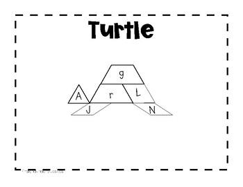 Pattern Block Letter  Naming Math & Literacy Station