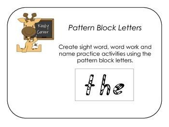 Pattern Block Letters