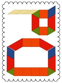 Pattern Blocks - Building Numbers & Letters
