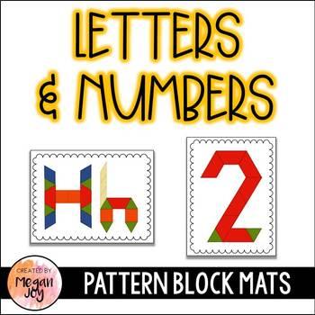 Pattern Blocks Building Numbers Letters By Megan Joy Tpt