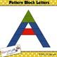 Pattern Block Letters clip art