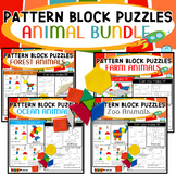 Pattern Block Mat Puzzles Animals Bundle