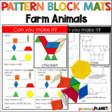 Pattern Block Mat Puzzles Farm Animals