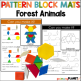Pattern Block Mat Puzzles Forest Animals