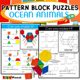 Pattern Block Mat Puzzles Ocean Animals