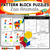 Pattern Block Mat Puzzles Zoo Animals