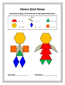Pattern Block Math: People