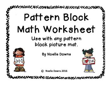 Pattern Block Math Worksheet