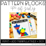 Pattern Block Mats (4th of July/Independence Day)