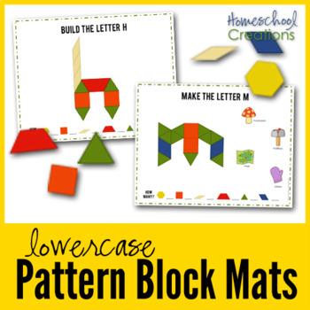 Pattern Block Mats - Lowercase Letters