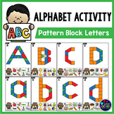 Pattern Block Mats | Pattern Block Alphabet Activities