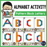 Pattern Block Mats | Pattern Block Alphabet Activities
