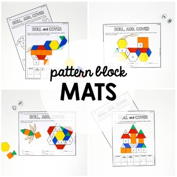 Pattern Block Mats - Roll and Cover