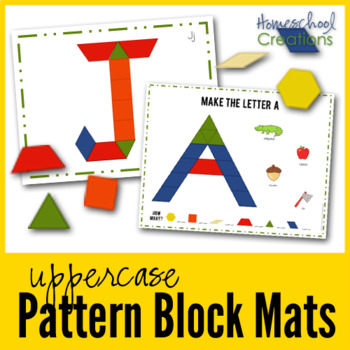 Pattern Block Mats Uppercase Letters By Homeschool Creations TpT Amazing Pattern Block Mats