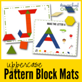 Pattern Block Mats - Uppercase Letters