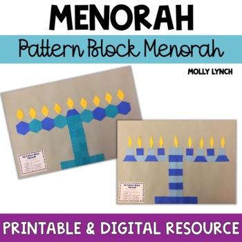 Pattern Block Menorahs