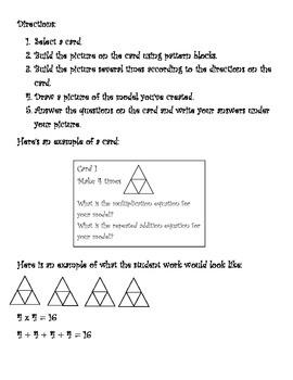 Pattern Block Multiplication