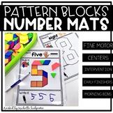 Pattern Block Number Mats | Fine Motor | Read It, Build It