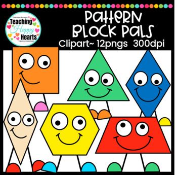 Pattern Block Pals Clipart