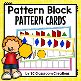 Pattern Block Pattern Cards (Task Cards)