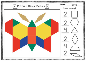 image about Printable Pattern Block called Behavior Block Envision Worksheet with Printable Block Outlines Math Heart