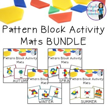 Pattern Block Mats BUNDLE By Angel's Primary Adventures TpT Interesting Pattern Block Mats
