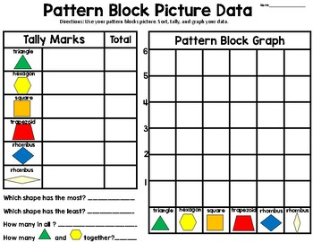 Pattern Block Pictures-Data and Grpahing