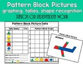 Pattern Block Pictures-Data, Tally, and Graphing