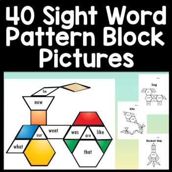 Sight Word Centers with Pattern Blocks {40 Pictures!} {Pattern Block Pictures}