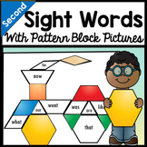 Second Grade Literacy Centers with Pattern Block Pictures {8 Pictures!}