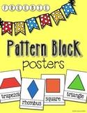 Pattern Block Posters - FREEBIE