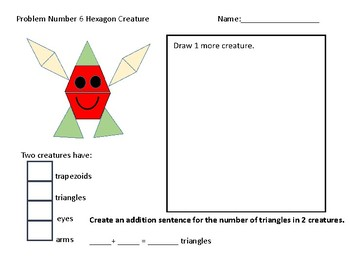 Pattern Block Problems and Math Activities Freebie