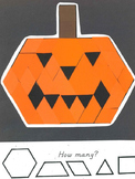 Pattern Block - Pumpkin Jack o Lantern for Halloween