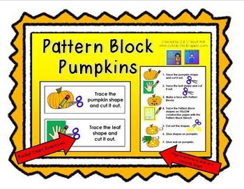 Pattern Block Pumpkins