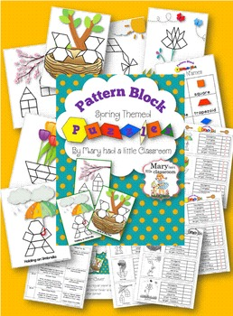 Pattern Block Puzzles : Spring Themed