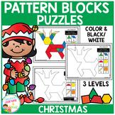 Pattern Block Puzzles: Christmas