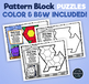Pattern Block Puzzles • Math Shape Puzzles • April Monster Month Theme