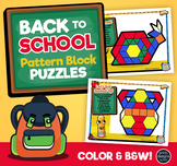 Pattern Block Puzzles • Math Shape Puzzles • Back to School Theme