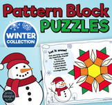 Pattern Block Puzzles • Math Shape Puzzles • December Holi