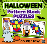 Pattern Block Puzzles • Math Shape Puzzles • Halloween Theme