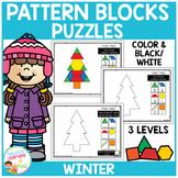 Pattern Block Puzzles: Winter