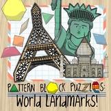 Pattern Block Puzzles: World Landmarks