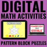 Digital Pattern Block Puzzles for Guided Math - for Google Classroom™
