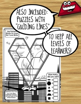 Pattern Block Puzzles for January & February / Winter!