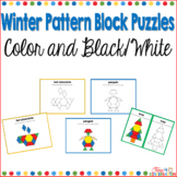 Pattern Block Puzzles for Winter