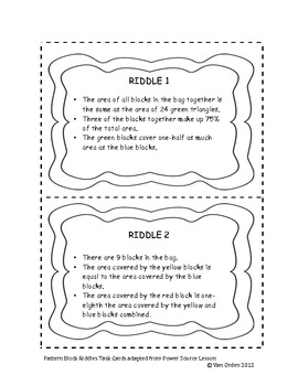 Pattern Block Riddles