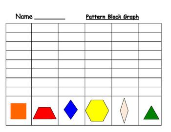 Pattern Block Shape Graphing/Chart