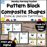Pattern Block Shape Lesson Partitioning Fractions Investigation Digital Print