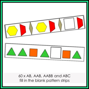 Pattern Block Shape Pattern Cards