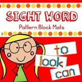 Sight Word Pattern Block Mats